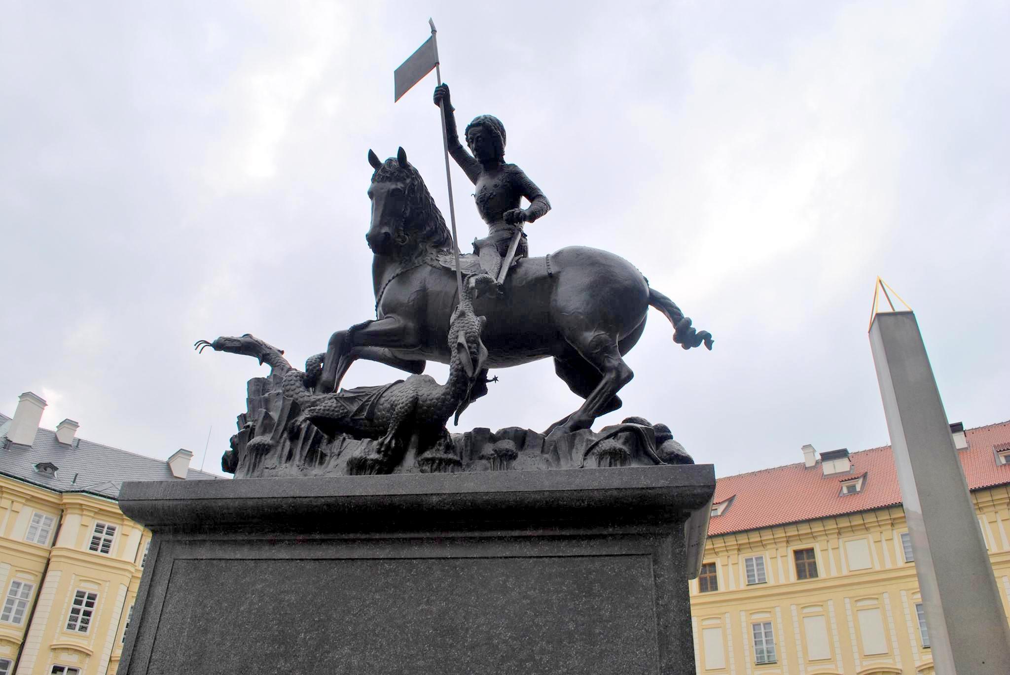 Szent György-szobor Prágában