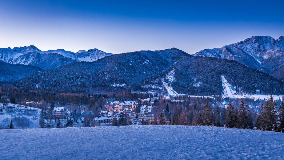 Téli naplemente a Tátrában