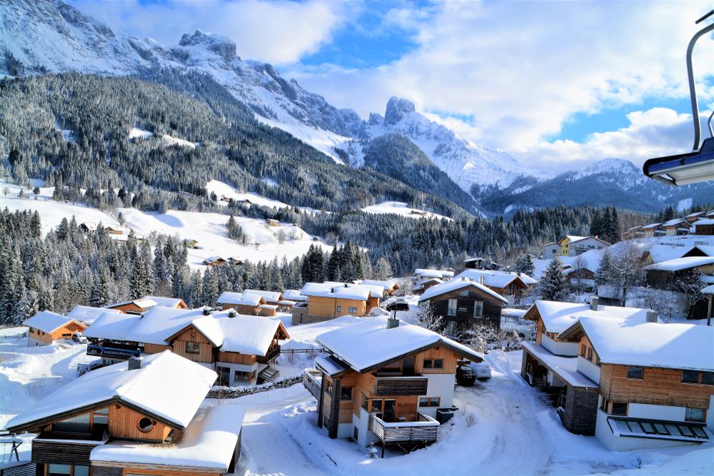 romantikus, falu, Ausztria