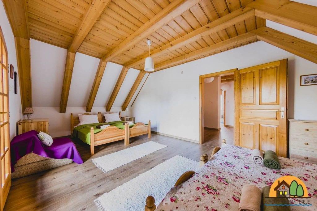 Nívós szállások: Nád a házam teteje vendégház hálószoba