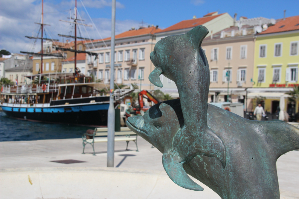 Delfinek Horvátországban Loinj