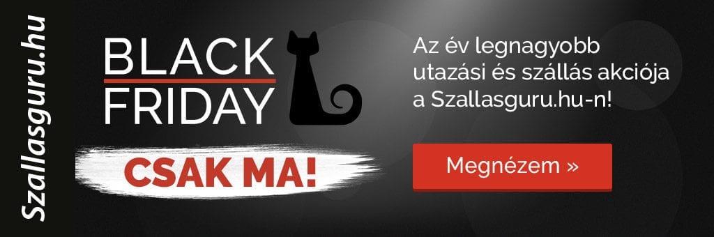 Itt a Black Friday 2019 a Szallasguru-n!