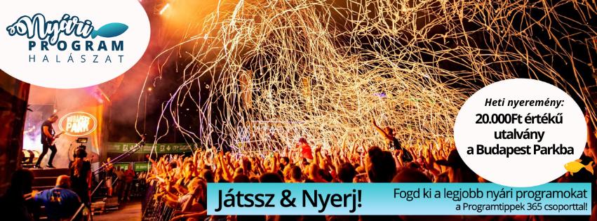 Indul a nyári programhalászat! - Nyerj 20 000 Ft értékű utalványt a Budapest Parkba!